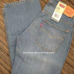 Boys sz 8H NWT Levi's 550 28x23 HUSKY jeans